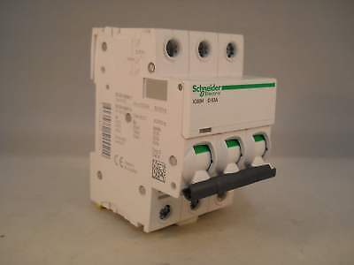 Schneider MCB 63 Amp Acti9 iC60H Type D 63A Triple Pole 3 Phase A9F55363 NEW