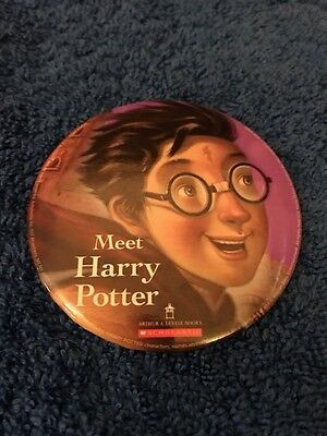"Meet Harry Potter Pin 3"" Button, 2016 Scholastic, Cursed Child Book Launch Promo"
