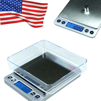 Digital Jewelry Precision Scale w/ Piece Counting ACCT-500 .01 g Accuracy Auto