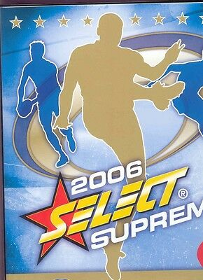2006 AFL Select Supreme official album, pages and set