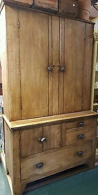 Antique Primitive Jelly Cabinet Kitchen Pine Cupboard w/ Original Hardware RARE!