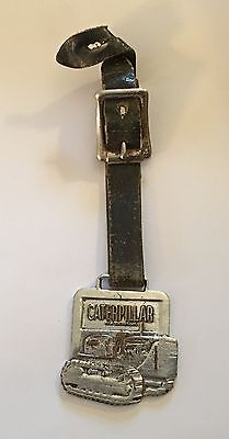"""Vintage Caterpillar Heavy Equipment 1 5/8"""" Watch Fob And Strap"""