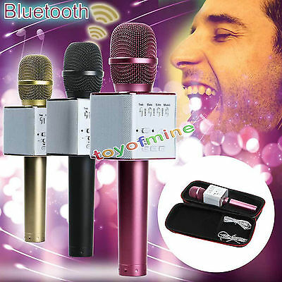 Q9 Black Handheld KTV Karaoke Mic Wireless Microphone Bluetooth Speaker Player