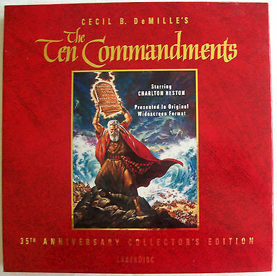 LASERDISC SALE The Ten Commandments 35th Anniv Edition Box Set - VGC
