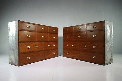 Pair of Regency Antique Mahogany Campaign Chests.