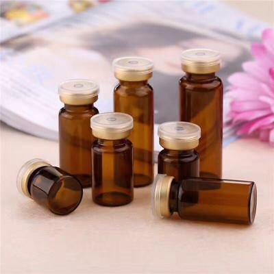 10X Vial Snuff Bottle Sterile Sealed Alloy Lid Essential Oil Aromatherapy 10ML