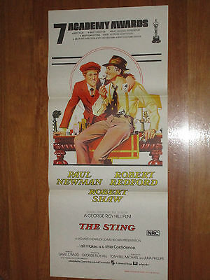 The Sting original Australian Daybill Movie Poster - Robert Redford Paul Newman