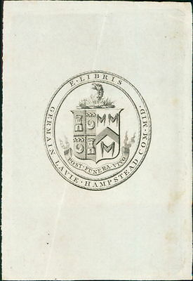 Germain Lavie Hampstead  Bookplate   JE.1812