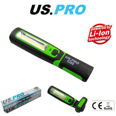 US PRO Cob Inspection Light & LED Torch Super Bright Rechargeable 5390