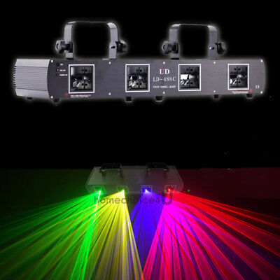 420mw Red Green Purple Yellow 4 Beams Laser Light DMX512 Stage Disco Concert DJ