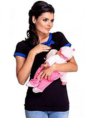 Short Sleeve Fashion Maternity Clothes Breastfeeding Nursing Top Women T-shirt