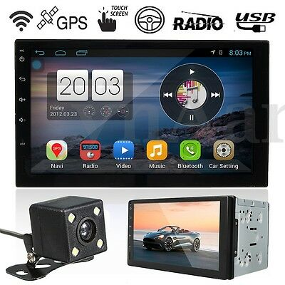 7'' Quad Core Android 5.1 3G WIFI 2-DIN Car Radio Stereo MP5 Player GPS +Camera