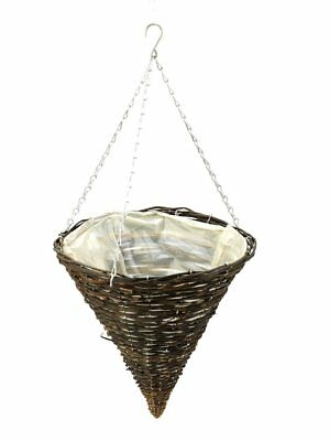 Apollo Willow Hanging Cone Garden Hanging Basket 14""