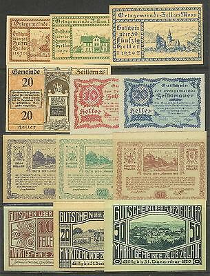AUSTRIA - Lot of 20 All Different NOTGELD Banknotes (1920-21) AU-UNC. [LOT 38]