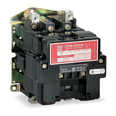 Square D Lighting Magnetic Contactor, 120VAC Coil Volts, Contactor Type: