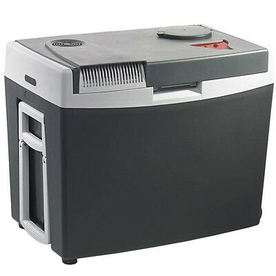 Mobicool G35 Grey 12 Volt Mains Thermo Electric Cool Box Fridge Cooler + Wheels