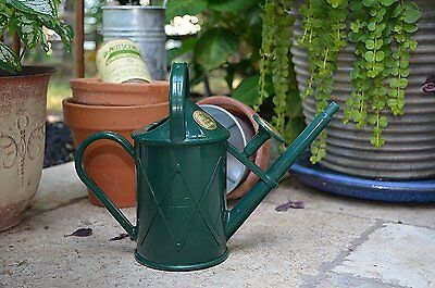 Haws Heritage Plastic Watering Can 1L Green 2 Holding Handles Gardening