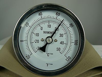 Grainger 1NFY2 Bimetal Analog Dial Thermometer -20 to 120 F range 3 in dial