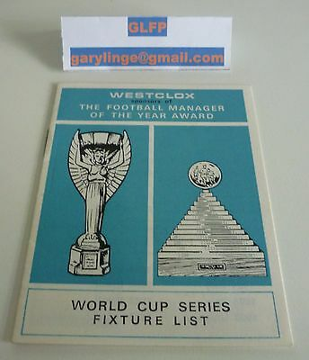 World Cup 1966 Tournament Programme Westclox mini 8 pages Excellent Condition