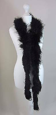 Original vintage 1920's black ostrich feather boa true flapper Gatsby