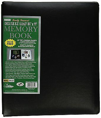 Pioneer Photo Albums 20-Page Family Treasures Deluxe Black Bonded Leather Cover