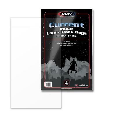 NEW BCW Current Comic Bags100 bags per pack *use with BCW # 1-BBCUR 1CUR