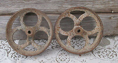 Antique Cart Dolly Table Rail Road Cast Iron Industrial Utility Cart Wheels
