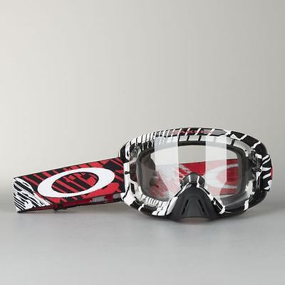 New Adult Oakley O Frame 2 Tear Off Goggles Motocross Enduro RUSHMORE Red