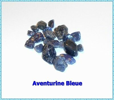 Lot 21 Pierres Roulées naturelles +++ AVENTURINE BLEUE +++ Quartz Bleu !