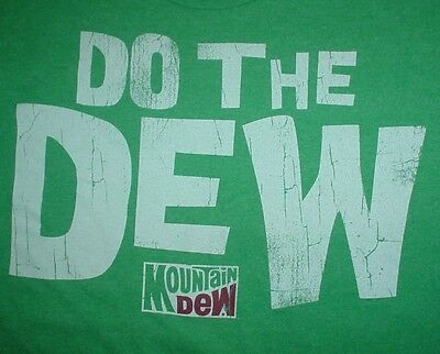 MOUNTAIN DEW Do The Dew Slogan Soda Pop Can Vintage Style Logo Small S T SHIRT