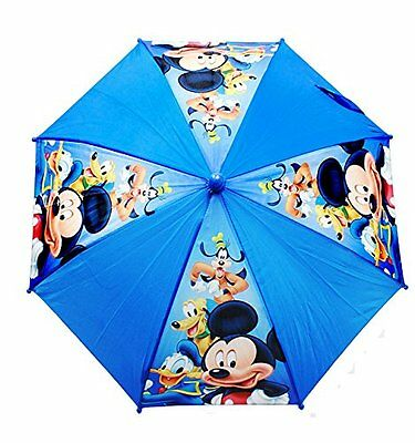 """Disney Junior Mickey Mouse And Friends Toddler/Kids 21"""" Umbrella w/Figure Handle"""