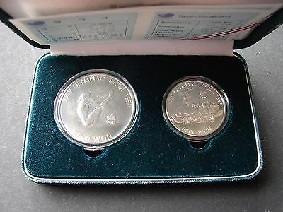 Set of 2:   5000 Won 1986 and 10 000 Won 1987 uncirculated coins !