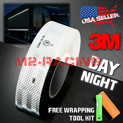 "3M 2""x150' Diamond Grade White Conspicuity Tape CE Approved Reflective Safety"
