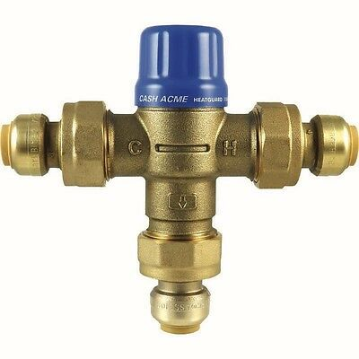 "3/4"" HG110-D Thermostatic Mixing Valve With Integral Checks CASH ACME SharkBite"