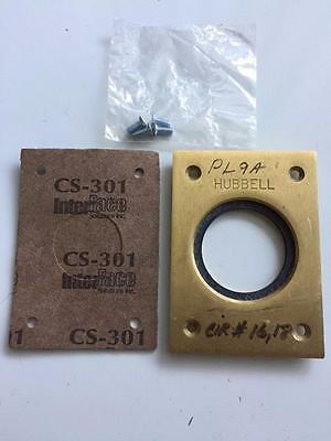 HUBBELL 232 A 232A Brass Floor Outlet Plate Recepticle Cover Single
