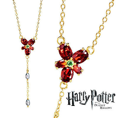 Hermione Red Crystal Necklace, Harry Potter, Wizarding World, Noble, Cosplay