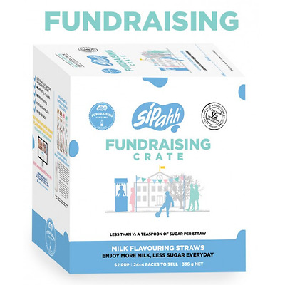 SIPAHH FUNDRAISING CRATE Flavoured Milk Straw Low Sugar