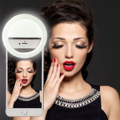 USB Rechargeable Ring Flash Fill Selfie LED Light Photography Camera For iPhone
