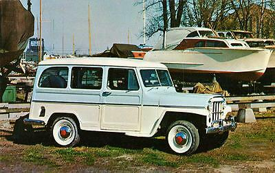 OLD PRINT  1956 Willys Jeep Utility Wagon 4-wheel Drive Auto