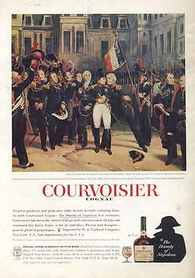1962 Courvoisier Cognac PRINT AD Napoleon, the Imperial Guard and General Petit