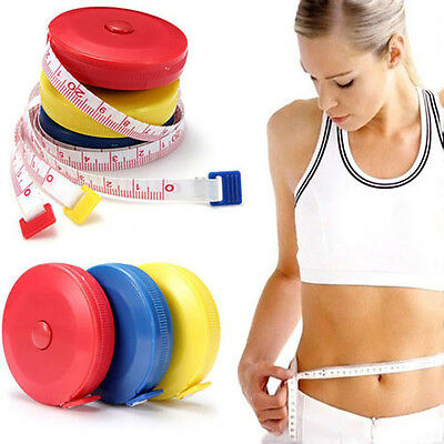 """Mini Retractable 60"""" 1.5M Sewing Tailor Cloth Soft Flat Tape Body Measure Ruler"""