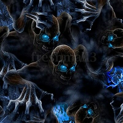 Blue Eyes PVA Dipping Hydrographics Water Transfer Print Skull Film 0.5 x 2m