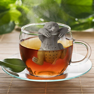 Lazy Sloth Tea Infuser Silicone Reusable Teapot Strainer Coffee Herb Tea Filter