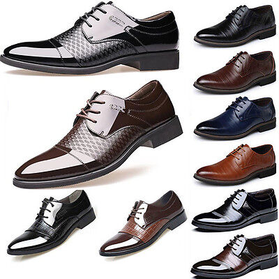 Mens Formal Business Oxfords Leather Shoes Casual Dress Shoes Fashion 2017