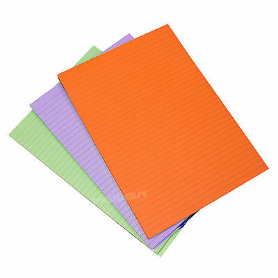 3 x Memory Aid Colour A4 100 Page Paper Notepad Memo Refill Lined Writing Pads