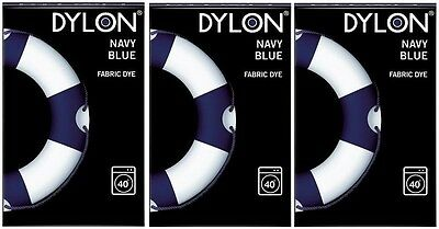 Dylon Machine Fabric Dye - Navy Blue (3 x 200g)