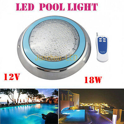 18W RGB Blue 252leds DIP LED Swimming Pool Underwater Light Wall Mounted AC 12V