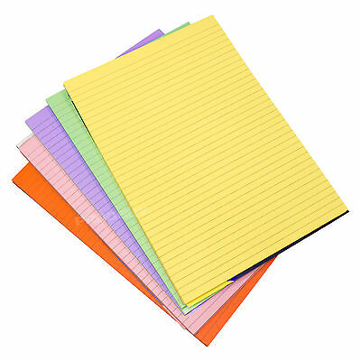 5 x Memory Aid A4 Colour 100 Page Paper Notepad  Lined Refill Memo Writing Pads