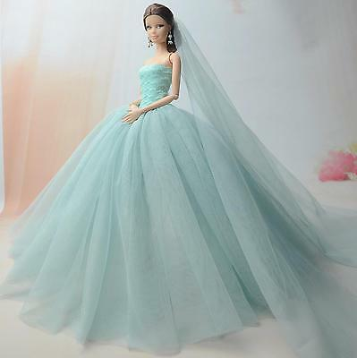 Fashion Royalty Princess Dress/Clothes/Gown+veil For 11.5in.Doll S519