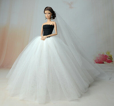 Fashion Royalty Princess Dress/Clothes/Gown+veil For 11.5in.Doll S520